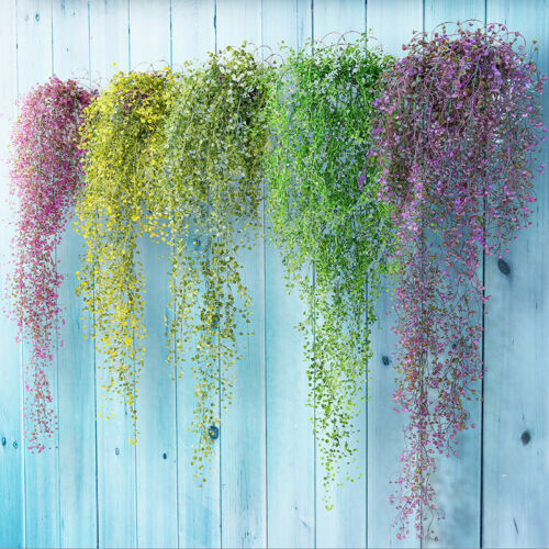 Artificial Fake Silk Flower Vine Hanging Garland Plant Home Garden Decor wdf