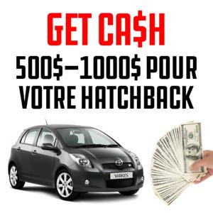 Recherche vieille hatchback contre 500-1000$