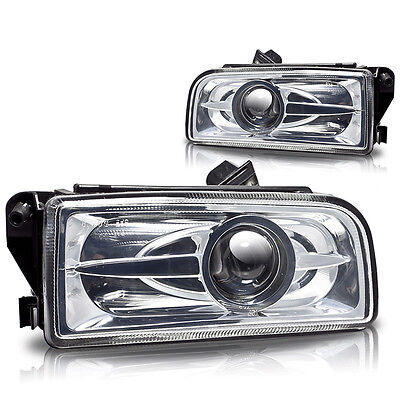 92-98 BMW 3 Series E36/M3 Halo Projector Fog Lights Pair - Clear Lens w/Bulbs 3 Series Projector Fog Lights
