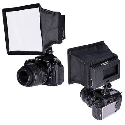 NEEWER 15x17 cm  Collapsible Diffuser Mini Softbox for CN-160 LED Flash Light US