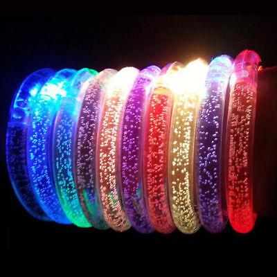 5/10x LED Flashing Bracelet Light Up Glow Bangle Wristband Party Favors Kids Toy - Led Wrist Bands
