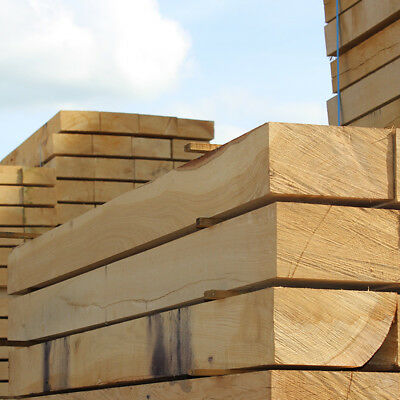 Pack of 10 New Untreated Oak Sleepers 1200mm x 200mm x 100mm FREE DELIVERY