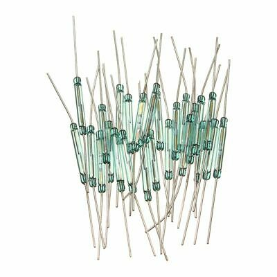25pcs Reed Glass Magnetic Induction Switches Tube No Spst 300vdc 3x20mm P1t4