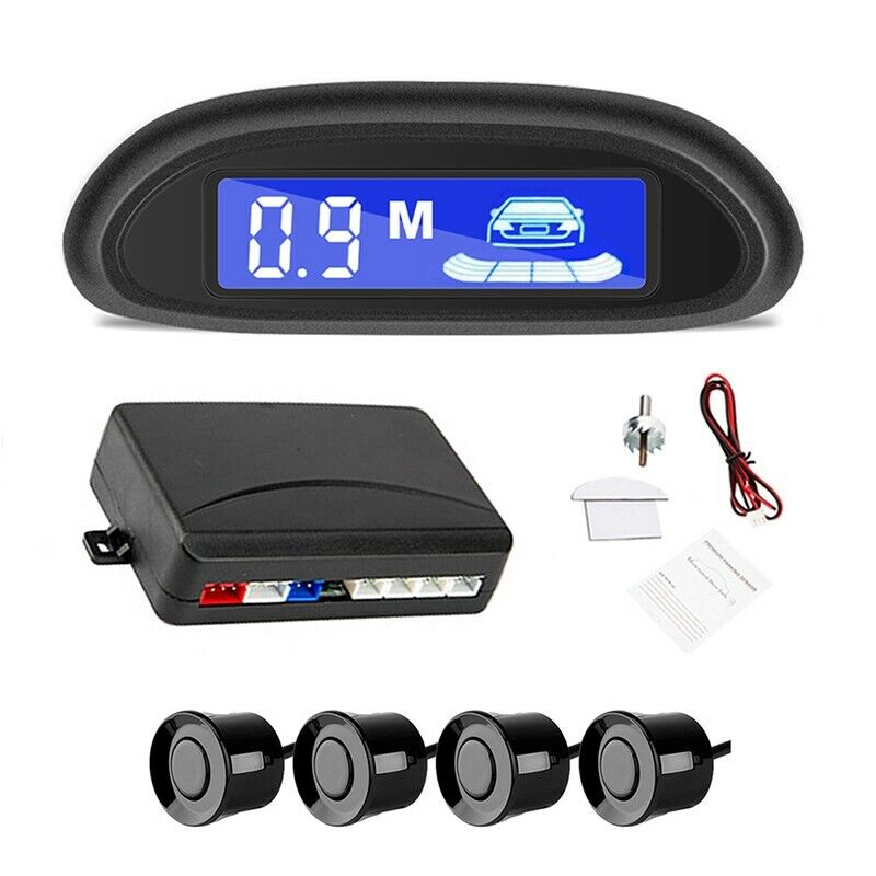 Car Reverse Backup Radar Alarm System Kit  4 Parking Sensors LED Display Black