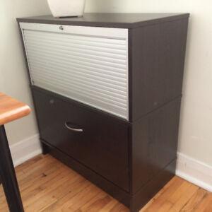 Ikea Wood Filing Cabinet/Storage Unit Combo