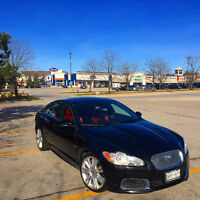 2010 Jaguar XF R - black on Red interior