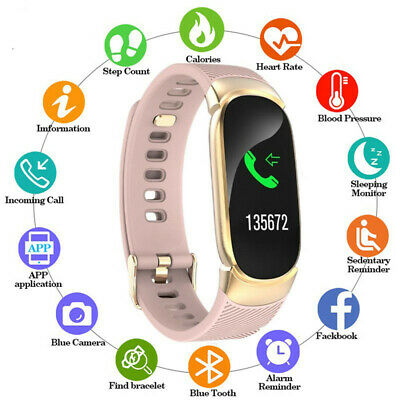 Women Mate QW16 Smart Watch Phone Fitness Tracker for iOS Android iPhone Huawei