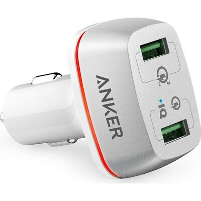 Anker Powerdrive+ 2 Ports 42W Dual USB Car Charger with Quick Charge 3.0 New Uk
