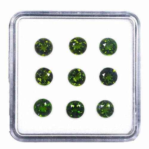 VVS 9 Pcs Natural Chrome Diopside 5mm Round Cut Vivid Green Sparkling Gemstones