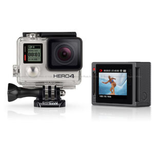 GoPro Hero 4 Silver with 30 accessories and Waterproof Case
