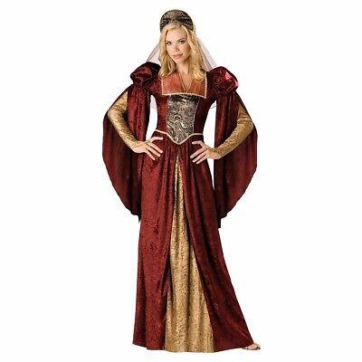 Renaissance Maiden Costume Dress Lady Waiting Juliet Medieval Princess -S M L - Medieval Lady Costume