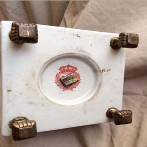 Antique set of 2 candelabras candle holders