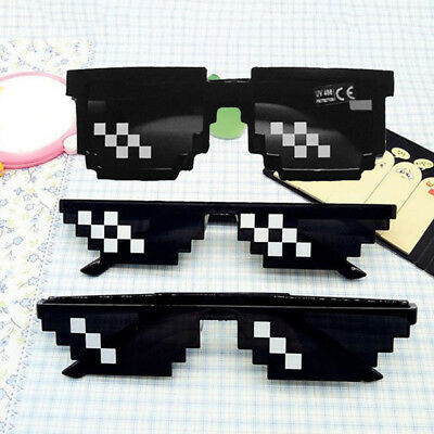 Mosaic 8 Bit Pixel Deal With It Sunglasses Unisex Thug Life Glasses Cool Eyewear - 8 Bit Sunglasses