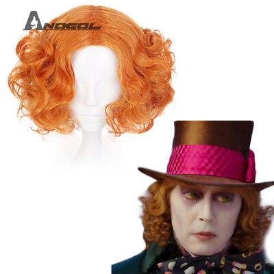 Alice in Wonderland Mad Hatter Tarrant Hightopp Cosplay Wig Synthetic Cute Wigs - Alice In Wonderland Wig