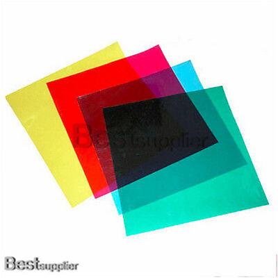 4 Color Gel Filter for Photography Studio Flash Strobe Speedlite Light Set