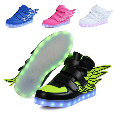2019 Boys Girls Wings LED Shoes Light Up Luminous Sneakers Gifts for Kids - Shoes For Girls Sneakers