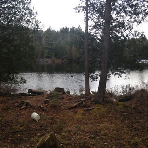Waterfront lot on marble lake, val des monts Quebec