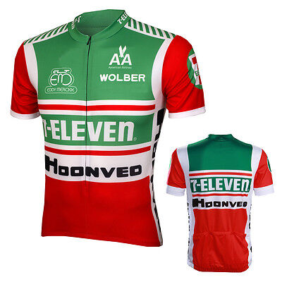 7 Eleven Retro Classic Cycling Jersey Bike Clothing Bicycle Cycle Apparel L