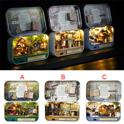 DIY Dollhouse Miniature Furniture 3D Doll House Kit Theater Box New Children Toy