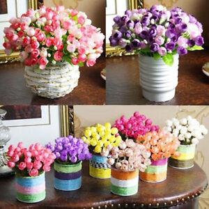 Artificial-Rose-Silk-15-Flower-Head-Leaf-Wedding-Hydrangea-Home-DIY-Decoration