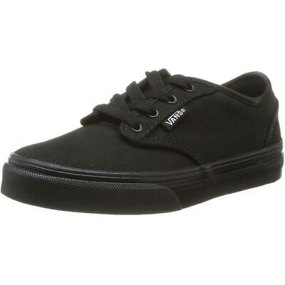Vans Active YT Atwood Black Canvas Junior Trainers Shoes