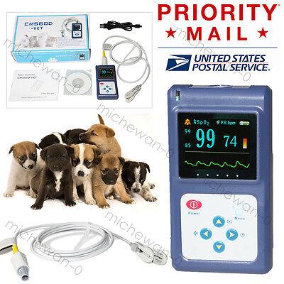 Usa Seller Veterinary Spo2 Pulse Oximeter Handheld Oled Oxymeteralarmpc Sw
