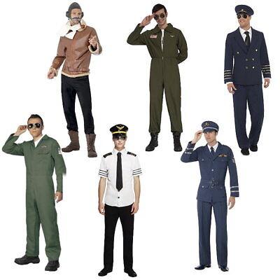 Pilotenkostüm für Herren Pilot Overall Fliegeranzug Kostüm 6 Stile wählbar