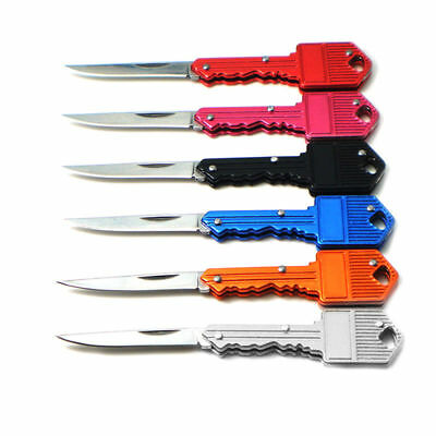 Set Of 4 Multi Colors  Pocket Folding Knife Key Charm Pendant Self Defense