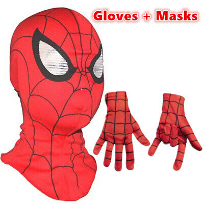 Spiderman Mask Spider-Man Gloves Cosplay Children And Adult Halloween Costume