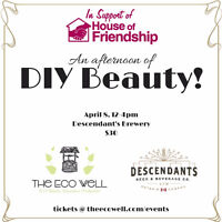 DIY Beauty Fundraiser event for the House of Friendship, April 8