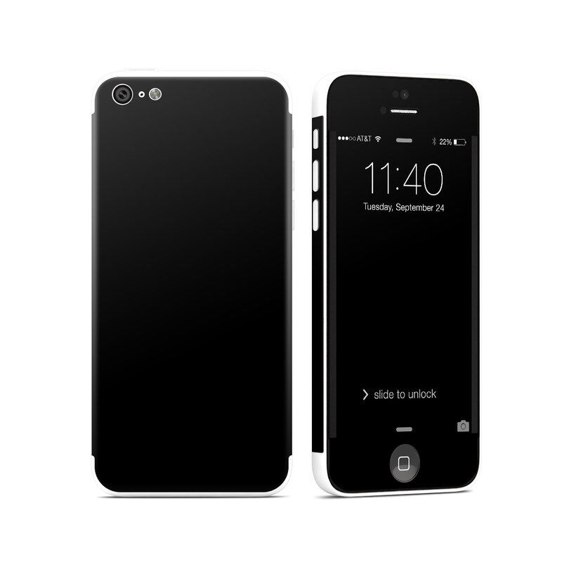 iPhone 5C Skin - Solid Black - Sticker Decal