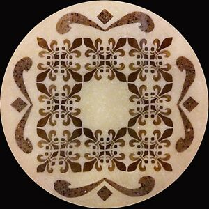 Hand Made Stone & Wood Inlay Design / Medallion, 24