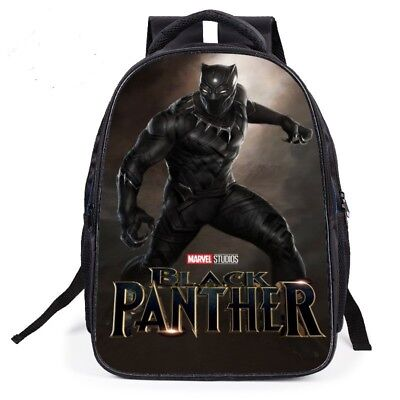 HOT Marvel Movie Black Panther Backpack Canvas Travel Bags Casual School Bag  ()