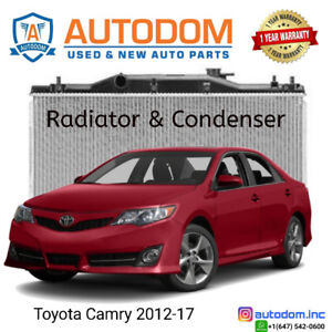 New Condenser and Radiator Toyota Camry 2012-17