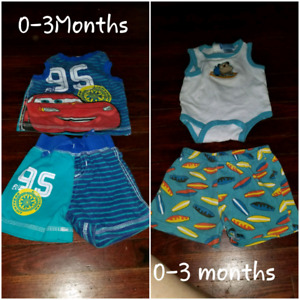 0-3Month Clothing   $2 a piece