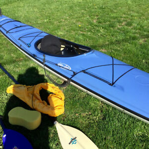 Fibreglass sea kayak