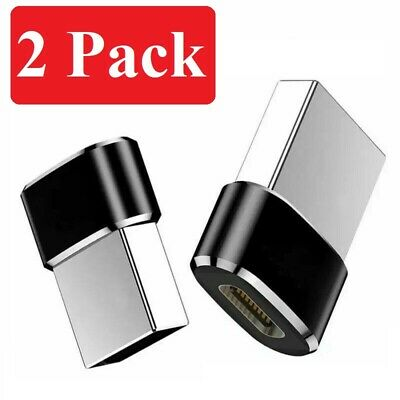 2 PACK USB C 3.1 Type C Female to USB 3.0 Type A Male Port Converter Adapter BLK