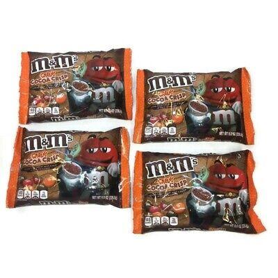 M&m Halloween Packs (4 Packs M&M's M&Ms Creepy Cocoa Crisp Chocolate 8 oz Limited Edition Halloween)