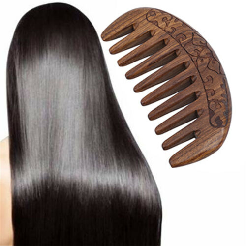 Women Wood Combs Hand Carved Sandalwood Beard And Hair Comb