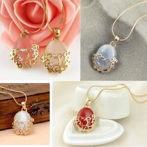18K GP Opal Necklace