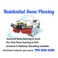 Snow Plowing Services!