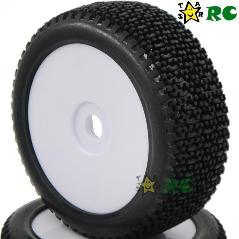 4pcs NEW 1/8 RC Off-Road Buggy Rubber Tires Tyre w/ Foam & H