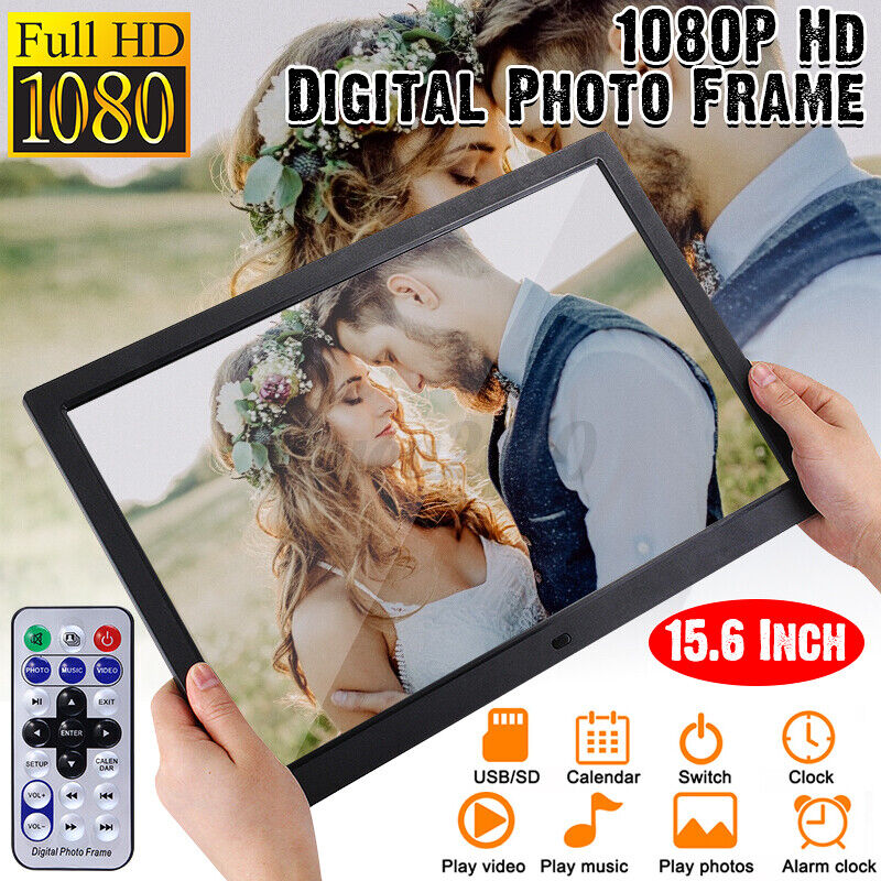 15 Inch HD TFT 1080P LED Digital Photo Frame Picture Album MP4 MP3 Movie Player