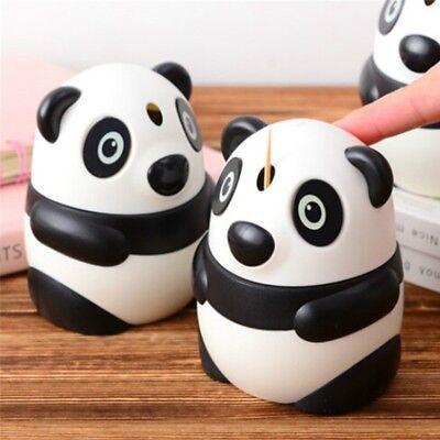 Panda Design Toothpicks Holder Automatic Toothpick Box Dispenser Case (Automatic Toothpick Holder)