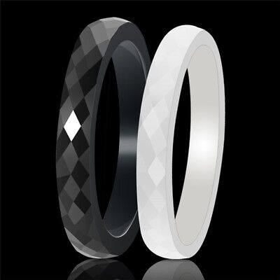 Fashion Ceramic Ring Jewelry For Couple Ring Engagement Hand Cut Ring Jewelry (Cut Couple)