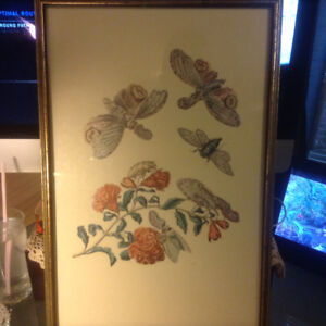 Vintage Study Lithograph Worms