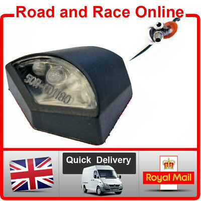 LED NUMBER PLATE LIGHT SMALL E MARKED BLACK 12V FIT MANY <em>YAMAHA</em> MOTORC