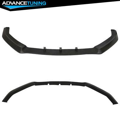 Fits 17-20 Infiniti Q60 Coupe 2Dr IKON V3 Style Front Bumper Lip Splitter PU