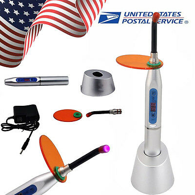 Usa Seller Denshine Dental 10w Wireless Led Curing Light Lamp 2000mw Silver Cl2b
