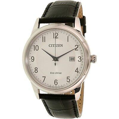 $84.50 - Citizen Men's Eco-Drive AW1231-07A Black Leather Eco-Drive Dress Watch